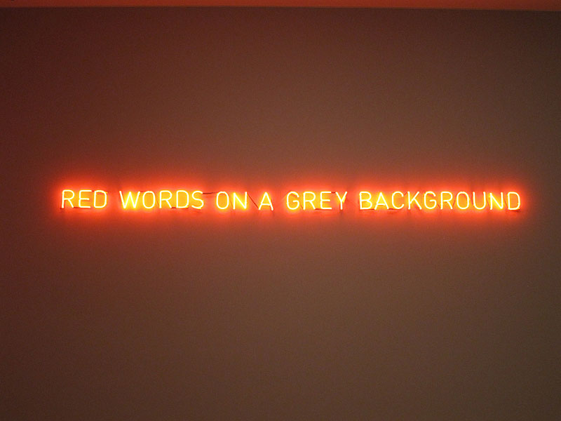 """red words on a grey background""