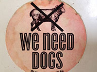"""We need dogs …"" … no sheeps? Gesehen in Dunedin, NZ"